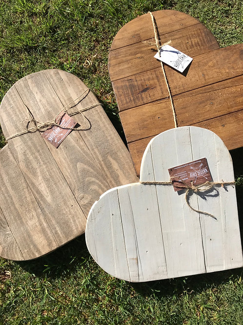 Heart Shaped Rustic Serving Board