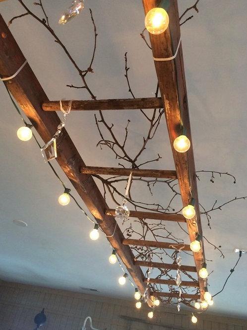 Rustic Wood Decorative Ladder