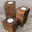 Thumbnail: Square Chunky Rustic Style Candle Set