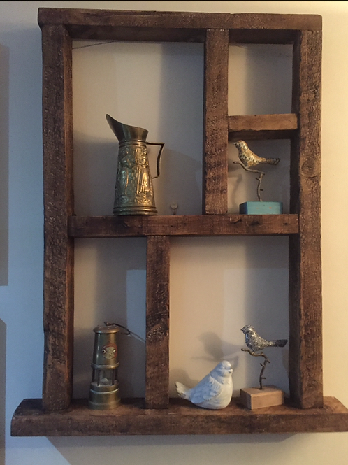 Recycled Wood Window Wall Shelf