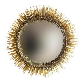 Urchin Mirror 24k gilded gold