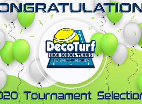 2020 DecoTurf High School Tennis Team Championships Field Announced