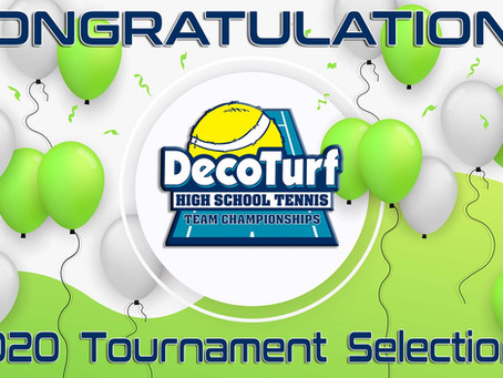2020 DecoTurf High School Tennis Team Championships Field Announced
