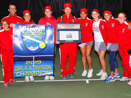2019 CHAMPIONS - DECOTURF HIGH SCHOOL TENNIS TEAM CHAMPIONSHIPS