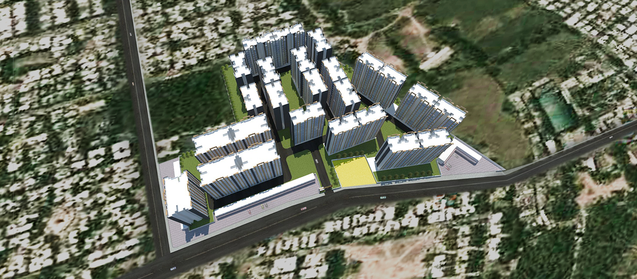 Gujarat Housing board birds eye view