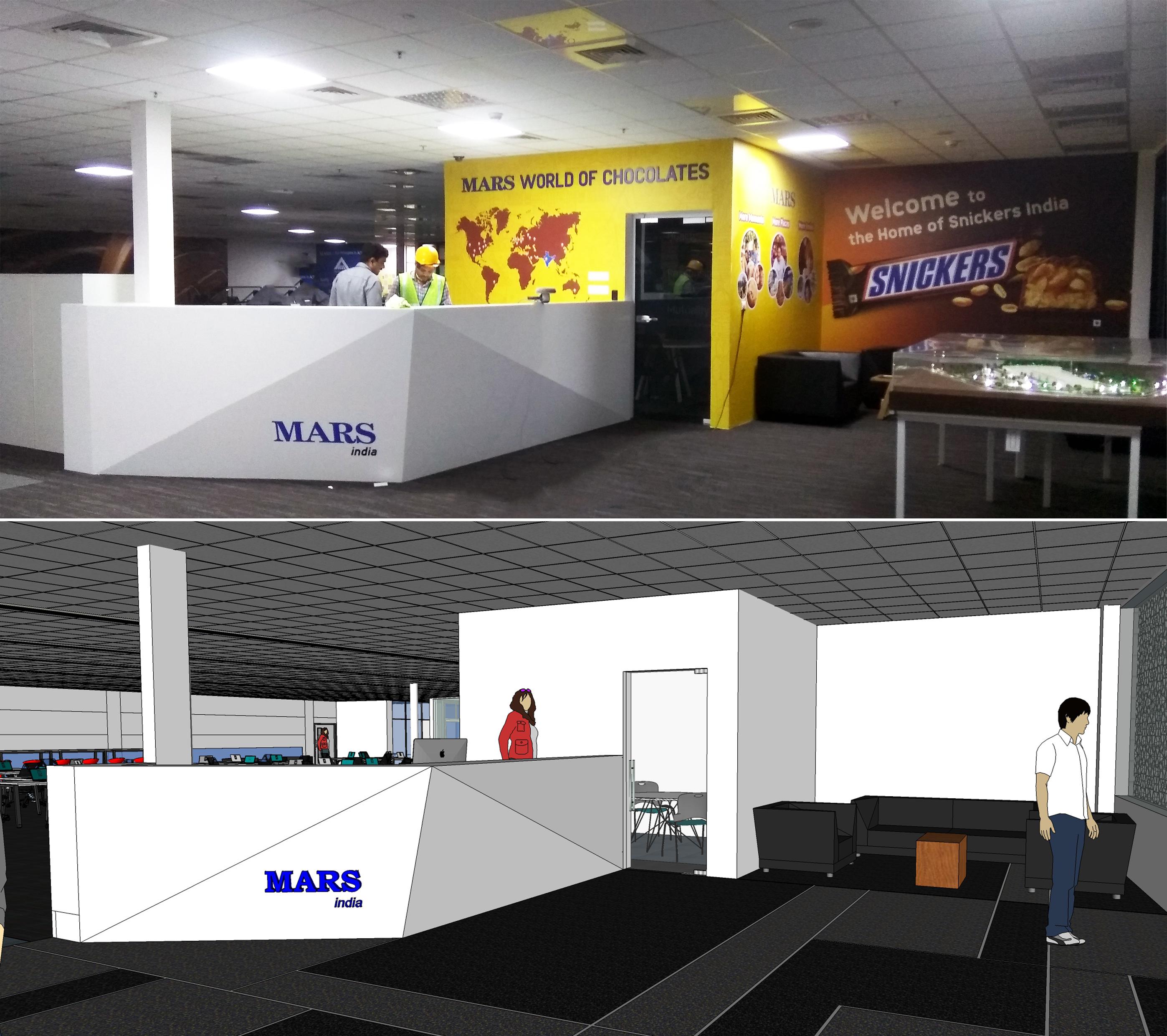 Mars India reception desk