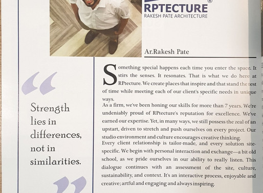 Zeleb - RPtecture's hospitality project got published in the magazine.