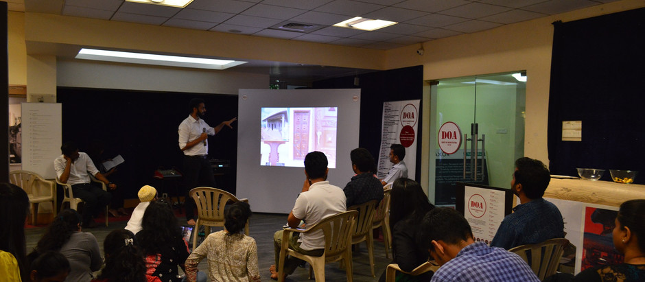 Ar Rakesh Pate presenting Snickers chocolate factory project glimpse @DOA (Death of Architecture)