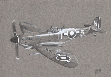 Seafire LF.IIIc, 880 Sqn Royal Navy, HMS Implacable