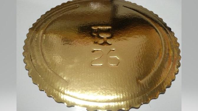 Podkład pod tort  złoty ząbkowany