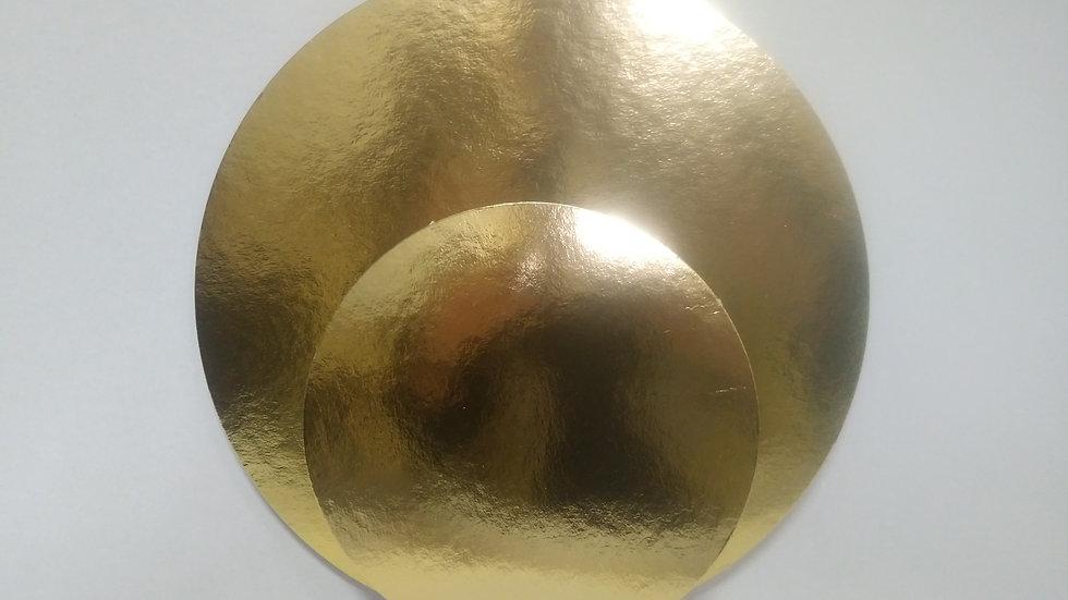 Podkładki pod tort okrągłe złocone cienkie