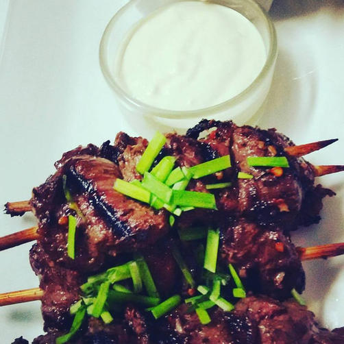 chili steak skewers