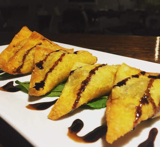 beef and brie wontons - red wine braised