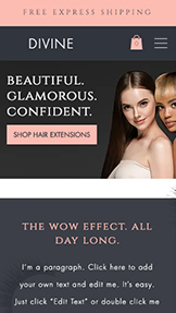 Webshop website templates – Hair Extension & Lash Store