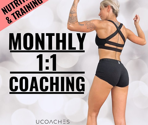 1:1 Coaching - Training & Nutrition (MONTHLY)