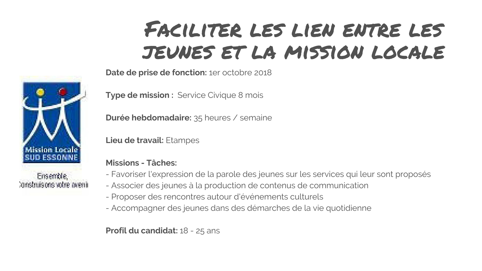 Volontaire Mission Locale