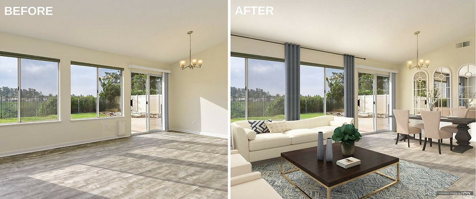 Real estate photography before and after 1