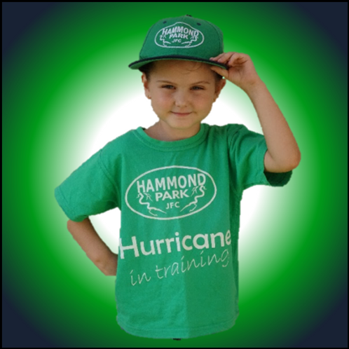 Hurricane in training tee
