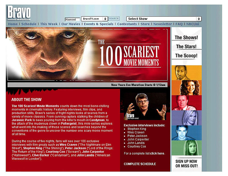 Bravo's 100 Scariest Movie Moments