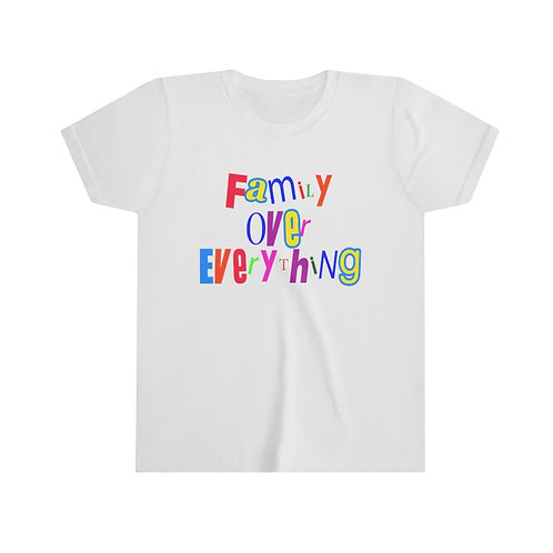 Family Over Everything Unisex Youth Tee