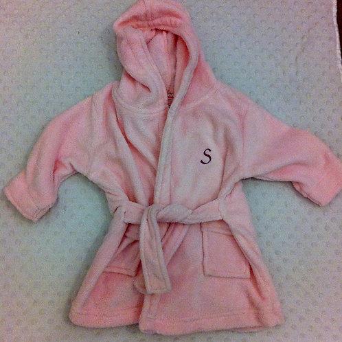 Girls Pink Dressing Gown - Monogram