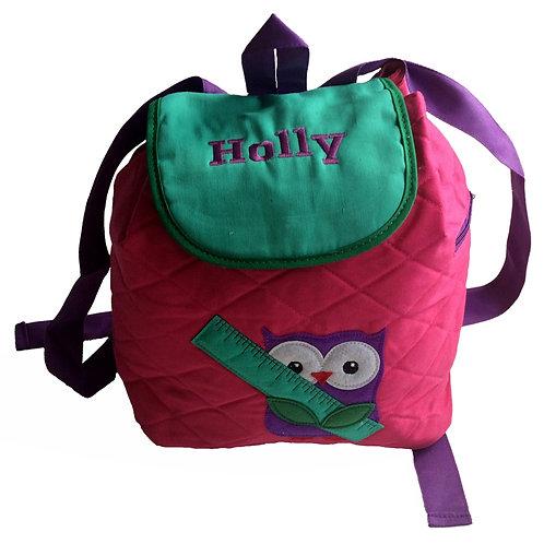 Personalised Owl Backpack / Ruck Sack