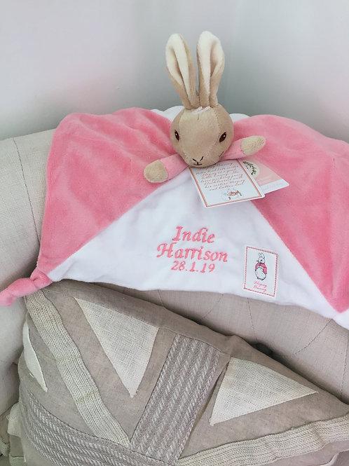 Personalised Flopsy Bunny Comforter Comfort Blanket