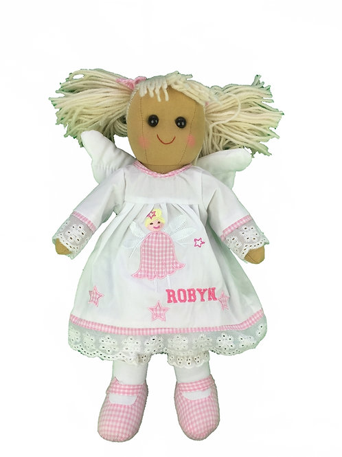 Beautiful Personalised Memorial Angel Rag Doll