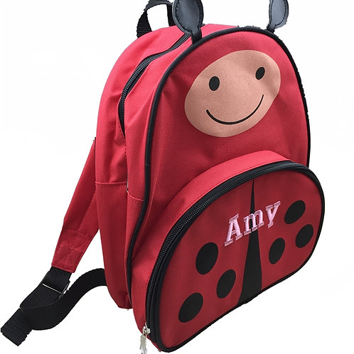 Sample Sale Personalised 'Ladybird' Backpack / Ruck Sack Amy