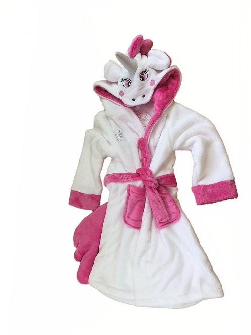 Girls 'Unicorn' Dressing gown 5-6 Years