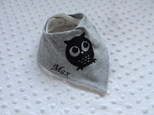 Grey Owl Dribble Bib