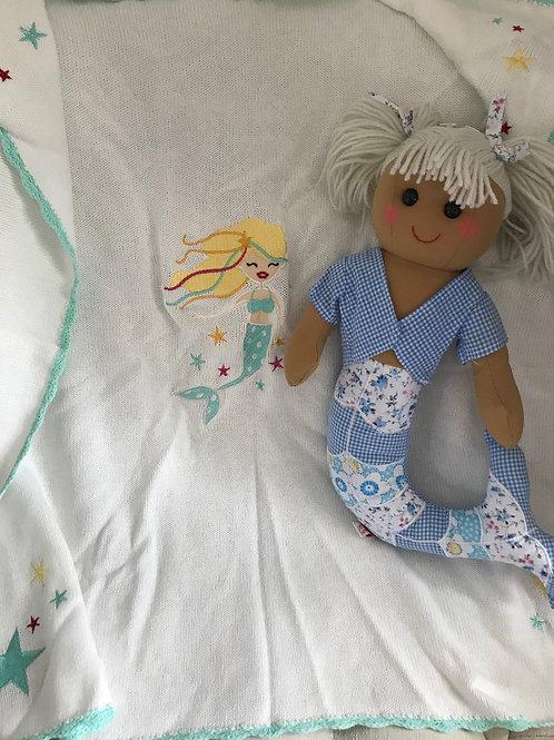 PersonalisedPowell Craft Mermaid Blanket & Rag Doll