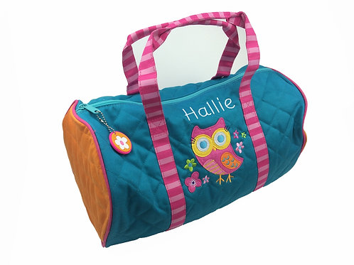 Sample Sale Personalised Owl Duffle Bag Hallie