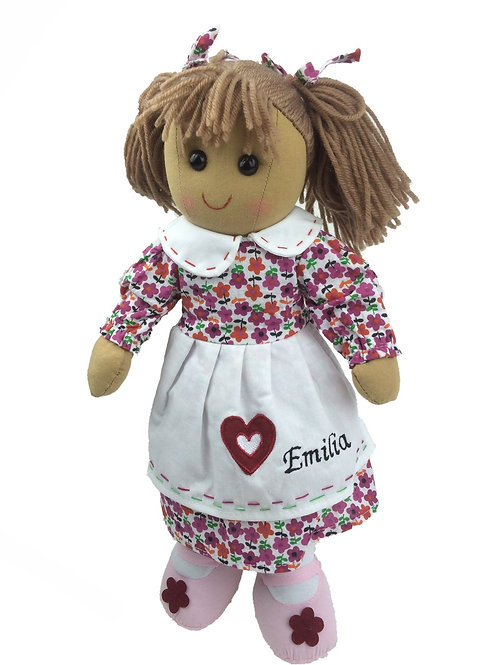 Beautiful Personalised Rag Doll - 'Heart'