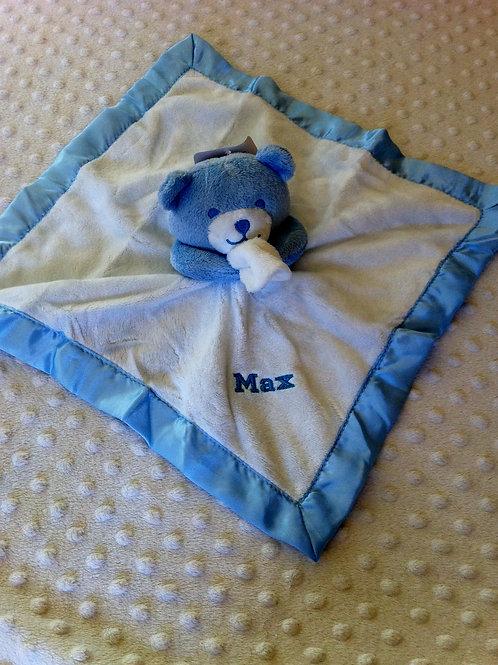 Blue Teddy Comforter