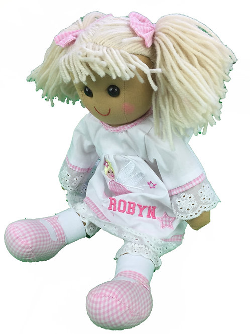 Beautiful Personalised Rag Doll - Angel