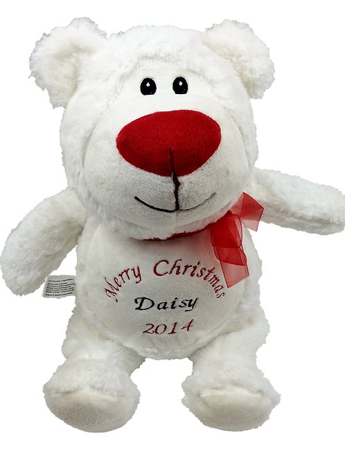 Personalised Christmas Polar Bear (40cm)