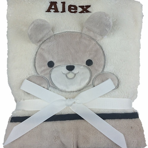 Personalised Cream Puppy Blanket