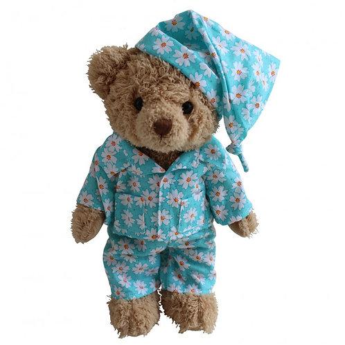Personalised Powell Craft Teddy Bear In Daisy PJ's Pyjamas Bedtime Be