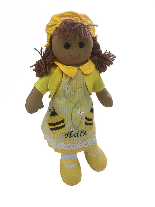 Beautiful Personalised Rag Doll - 'Bumble-Bee'