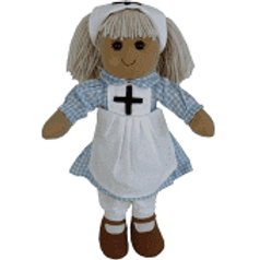 Beautiful Personalised Rag Doll - Nurse