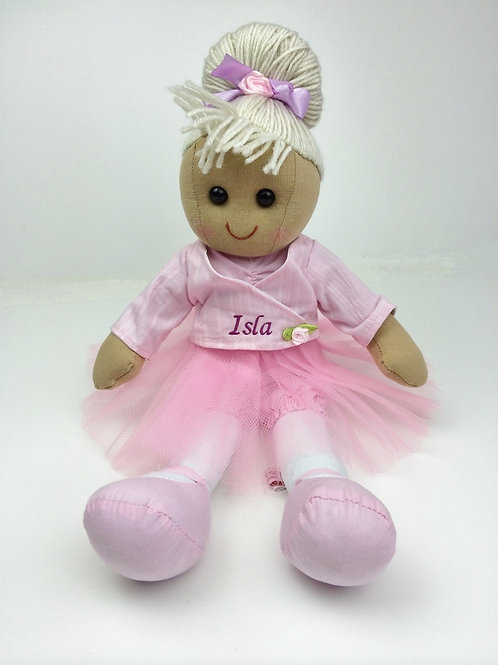 Beautiful Personalised Rag Doll - Ballerina
