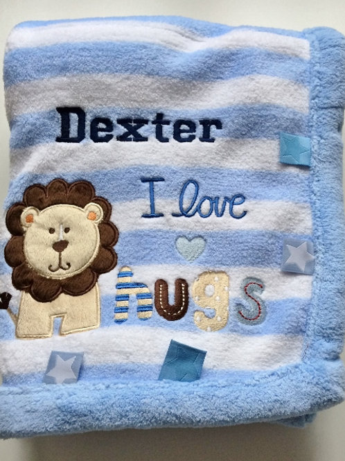 Personalised I love hugs Blanket