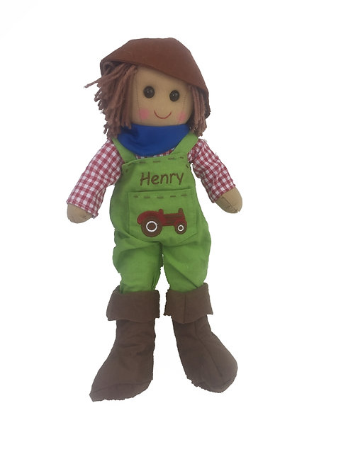 Beautiful Personalised Rag Doll - Tractor Driver