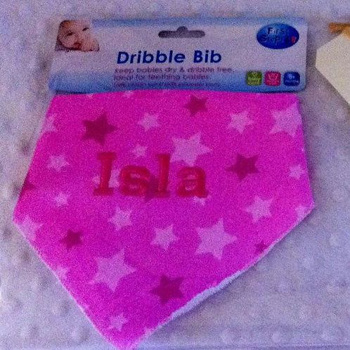 pink dribble bib