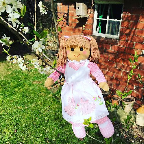 Beautiful Personalised Rabbit Design Rag Doll - 'Bunny'