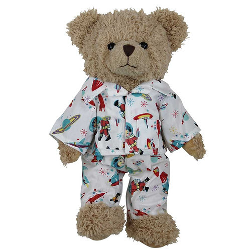 Personalised Powell Craft Space Teddy Bear In PJ's Pyjamas Bedtime Bear