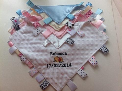 Personalised Taggie Comforters - Cream