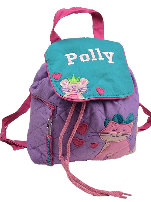 Personalised 'Pink Cat' Backpack / Ruck Sack.
