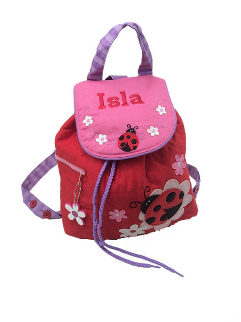 Personalised Ladybird Backpack / Ruck Sack.